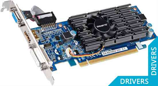 Видеокарта Gigabyte GeForce 210 1024MB DDR3 (GV-N210D3-1GI)