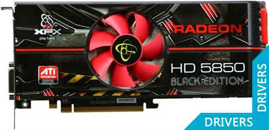 Видеокарта XFX Radeon HD 5850 Black Edition 1GB GDDR5 (HD-585X-ZABC)
