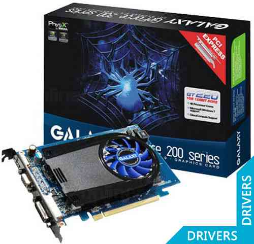 Видеокарта Galaxy GeForce GT 220 512MB