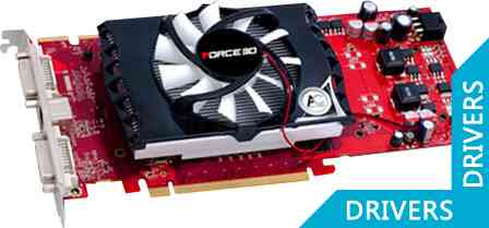 Видеокарта Force3D Radeon HD4830 512M