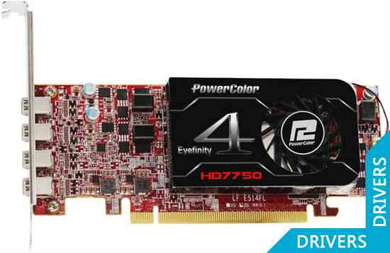 Видеокарта PowerColor HD 7750 Eyefinity 4 LP Edition 2GB GDDR5 (AX7750 2GBD5-4DL)