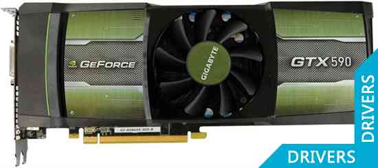Видеокарта Gigabyte GeForce GTX 590 3GB GDDR5 (GV-N590D5-3GD-B)